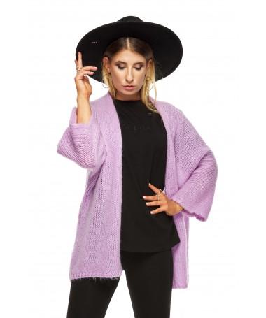 Gładki sweter z rozszerzanym rękawkiem LILA